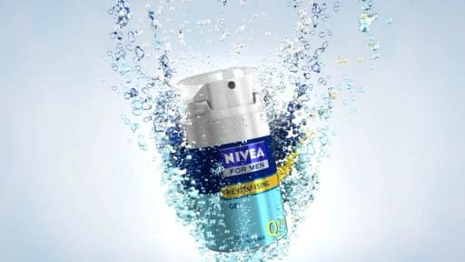 Simulated Bubble Animation for Nivea